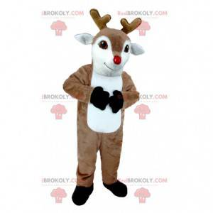 Caribou elk hnědý a bílý sob maskot - Redbrokoly.com