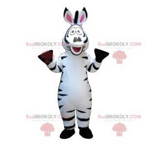 Mascote zebra super engraçado. Fantasia de zebra -