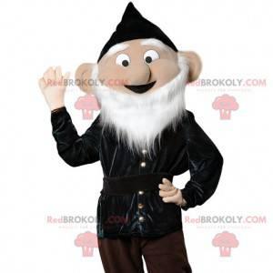 Maskottchen älterer Mann mit einem schönen weißen Bart -