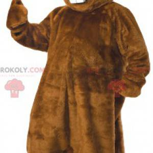 Super smilende bæver maskot. Beaver kostume - Redbrokoly.com