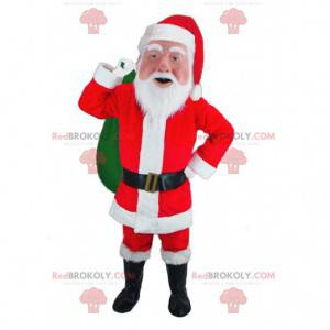 Santa Claus mascot dressed in red and white - Redbrokoly.com