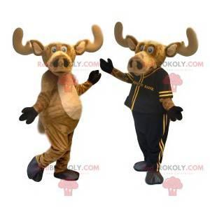 Caribou maskot med stor næse. Caribou kostume - Redbrokoly.com