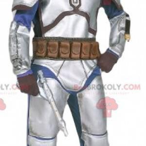 Mascote do guerreiro Sci-Fi. Fantasia de guerreiro -