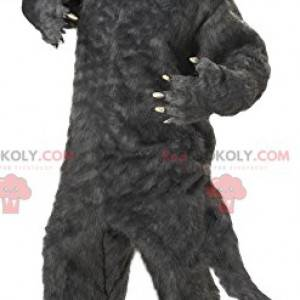 Terrificante mascotte lupo grigio. Costume da lupo -