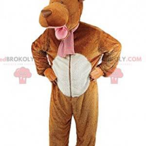 Mascote de veado marrom. Fantasia de cervo marrom -