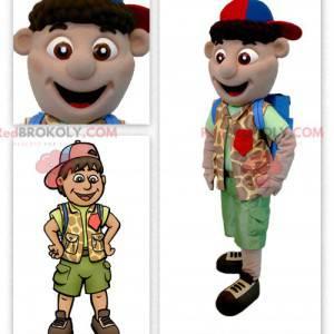 Průzkumník chlapec maskot - Redbrokoly.com