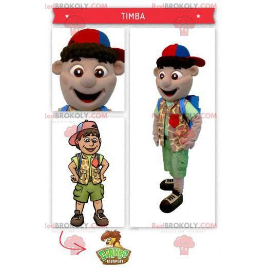 Explorer boy mascot - Redbrokoly.com