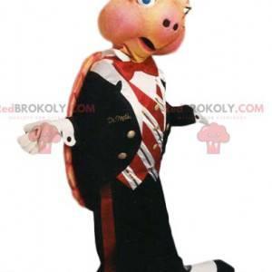 Mascote tartaruga com terno de gravata - Redbrokoly.com