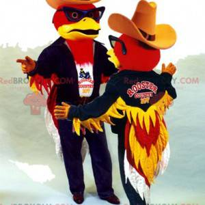 Rotadlerpaar-Maskottchen im Cowboy-Outfit - Redbrokoly.com