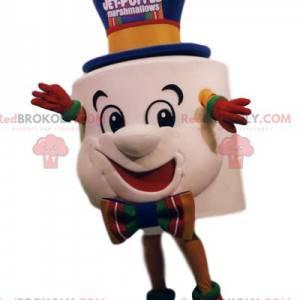 Mascotte marshmallow super divertente. Costume da marshmallow -