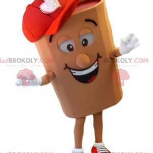 Smiling log mascot with a red cap - Redbrokoly.com