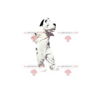Maskot bílý a černý pes. Kostým pro psa - Redbrokoly.com