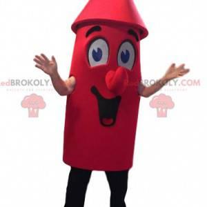 Super smilende rød rakett maskot - Redbrokoly.com