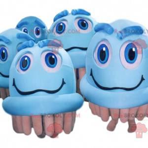 Blaue elektrische Bürstenmaskottchen - Redbrokoly.com