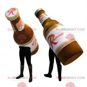 Maskottchen von zwei Flaschen Bier. Bierkostüm - Redbrokoly.com