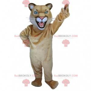 Lioness tigress brown tiger mascot - Redbrokoly.com