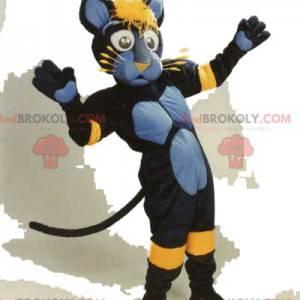 Báječný maskot černé kočky s roztomilými vousy - Redbrokoly.com
