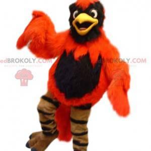 Maskottchen orange und schwarzer Adler. Phoenix Kostüm -