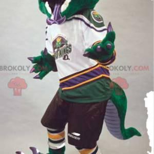 Lagarto mascote agressivo com coroa amarela - Redbrokoly.com