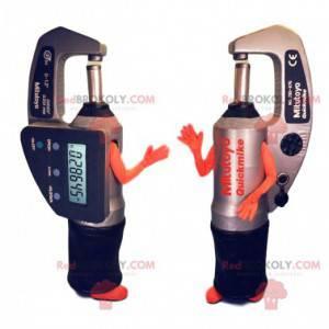 Digitální mikrometr maskot. Mikrometrický oblek - Redbrokoly.com