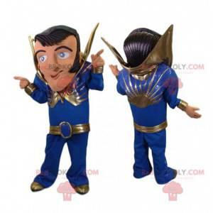 Rock n 'roll tanečník maskot s modrým kostýmem - Redbrokoly.com