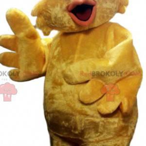 Velmi zábavný malý žlutý kuřecí maskot. - Redbrokoly.com