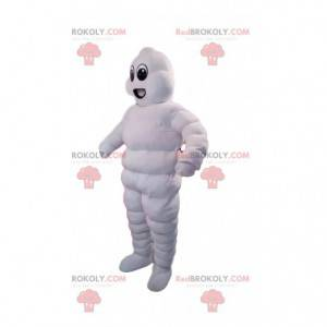 Inflatable white snowman mascot - Redbrokoly.com