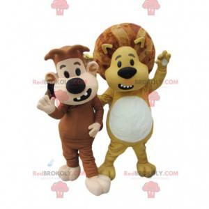Lions mascot duo. Lions costume - Redbrokoly.com