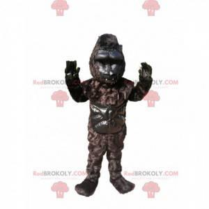 Schwarzes Gorilla-Maskottchen. Schwarzes Gorillakostüm -