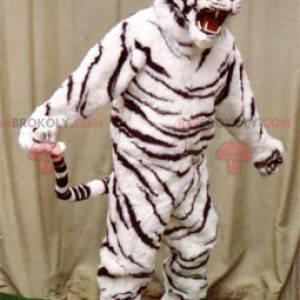 Weißes und schwarzes Tigermaskottchen - Redbrokoly.com