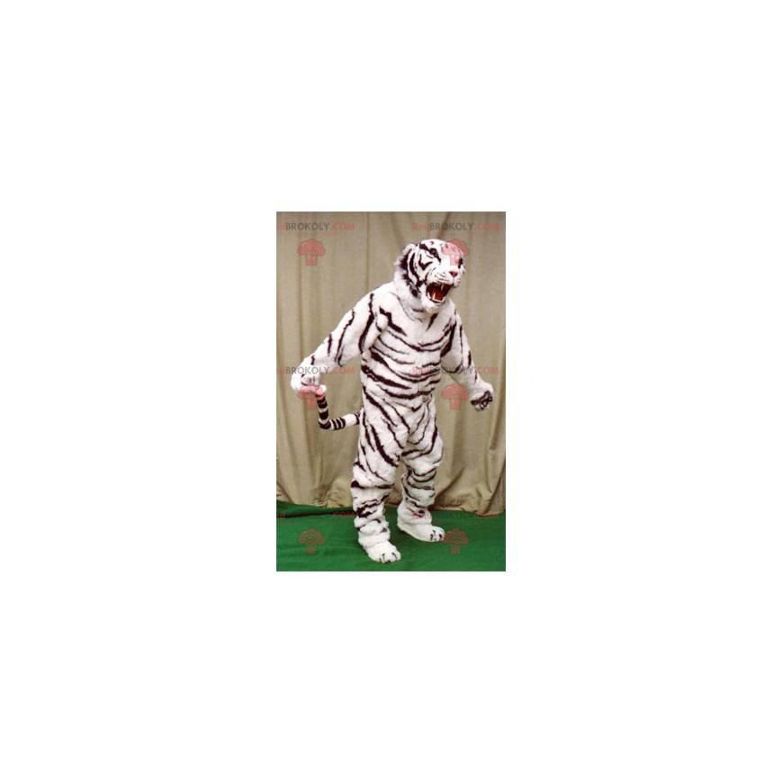 White and black tiger mascot - Redbrokoly.com