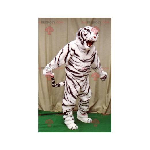 Biały i czarny tygrys maskotka - Redbrokoly.com