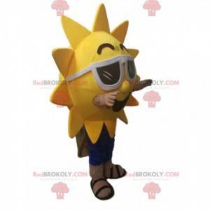 Sun mascot with sunglasses. - Redbrokoly.com