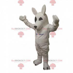 Hvid ulv maskot. Hvid ulv kostume - Redbrokoly.com