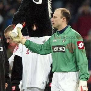 Maskot černé a bílé hříbě koně - Redbrokoly.com