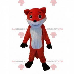 Mascote raposa laranja e branca. Fantasia de raposa -