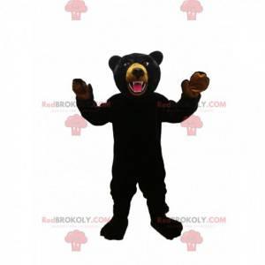 Fierce black bear mascot. Black bear costume - Redbrokoly.com