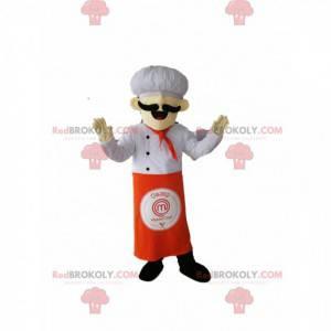 Maskot kuchař s krásným knírem. - Redbrokoly.com