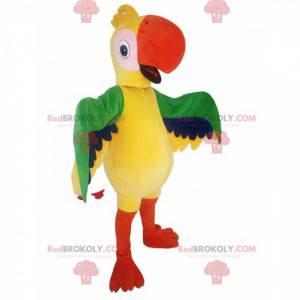 Mascote do papagaio multicolorido. Fantasia de papagaio -