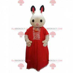 Rabbit mascot with a red lace dress. - Redbrokoly.com
