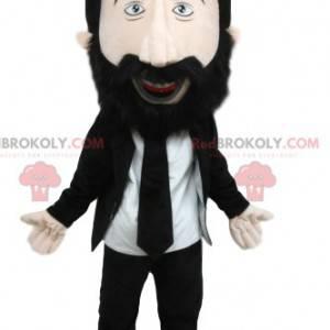 Maskotka mężczyzna w garniturze i pod krawatem - Redbrokoly.com