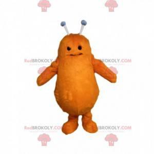 Orange alien mascot with antennas. - Redbrokoly.com