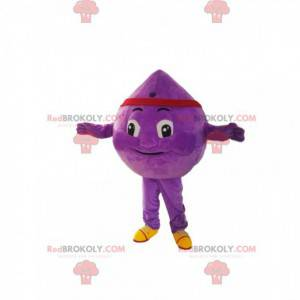 Purple drop mascot with a red banner. - Redbrokoly.com