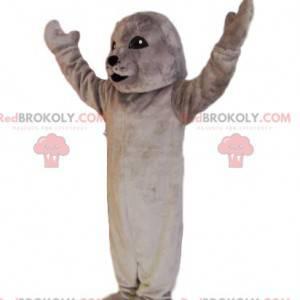 Mascote da foca cinza. Fantasia de foca - Redbrokoly.com