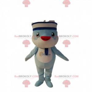 Ptačí maskot v námořnickém oblečení. Ptačí kostým -