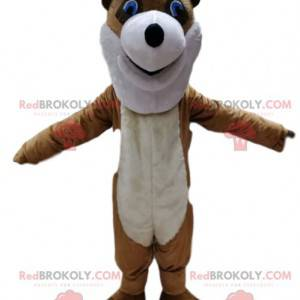 Brown Fox Maskottchen mit seiner spitzen Nase. - Redbrokoly.com