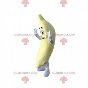 Sorridente mascote banana. Fantasia de banana - Redbrokoly.com