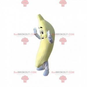 Sorridente mascotte di banana. Costume da banana -