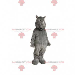Mascota de rinoceronte gris. Disfraz de rinoceronte -