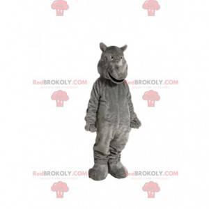 Mascote do rinoceronte cinzento. Fantasia de rinoceronte -